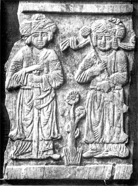 Fatimid Ivory Plaque of Two Soldiers, 10th century