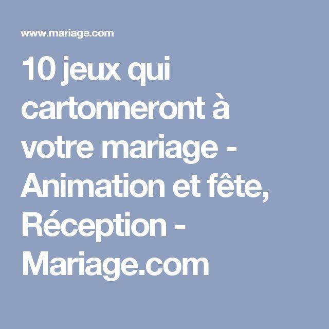 10 jeux qui cartonneront à votre mariage - Animation et fête, Réception - Mariage.com