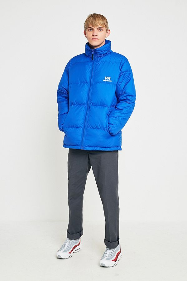 Helly Hansen Reversible Blue Down Parka Jacket   MUSIC VID -LOLA ... ff4e01bbf4ee