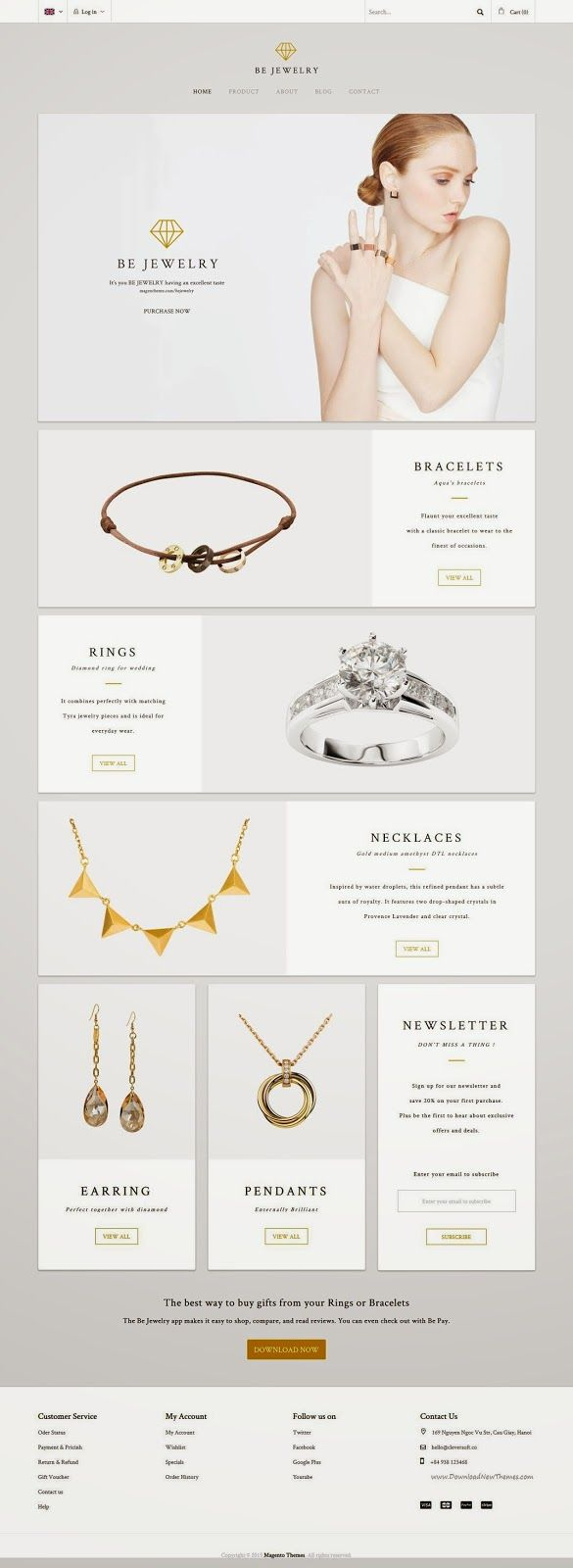 Simple and Clean MT BeJewelry Multipurpose Responsive Magento Theme 2015 #eCommerce Download Now➝ http://www.downloadnewthemes.com/2015/02/mt-bejewelry-multipurpose-responsive.html