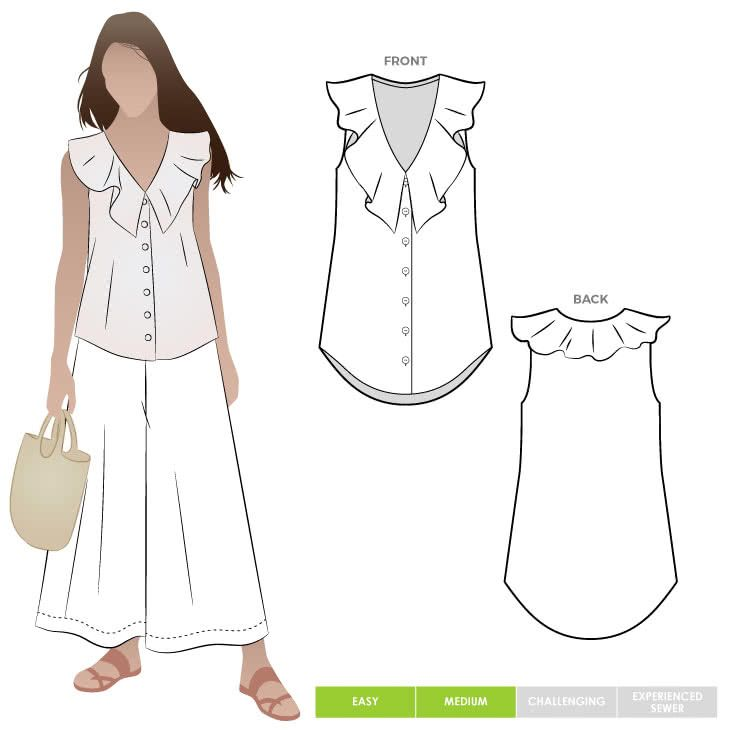 Almy Woven Top PDF | Sewing patterns to try | Pinterest | Sewing ...