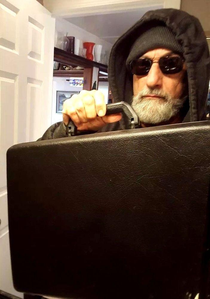 Vintage Samsonite Hard Shell Slim Briefcase Blk ATTACHE CASE -DELEGATE- with KEY #Samsonite #BriefcaseAttache