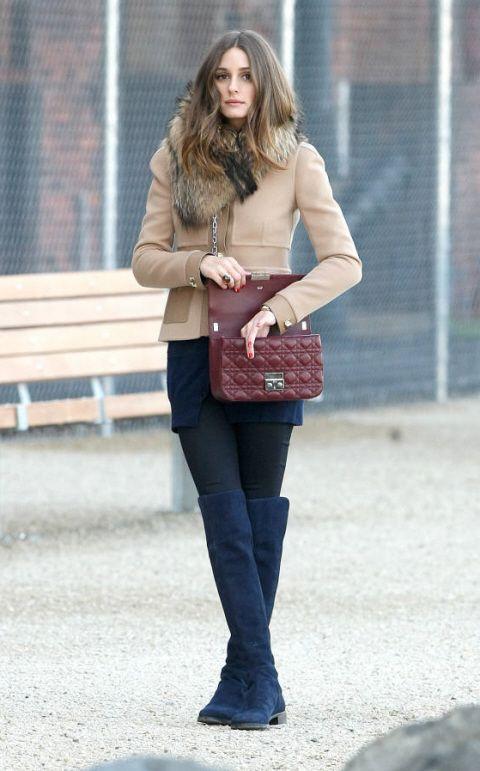 Olivia Palermo - Stuart Weitzman 5050 boots