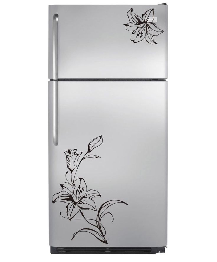 90 X 22 Large Vine Butterfly Wall Decals Removable: Details About Flower Refrigerator Decoration Vinyl Wall