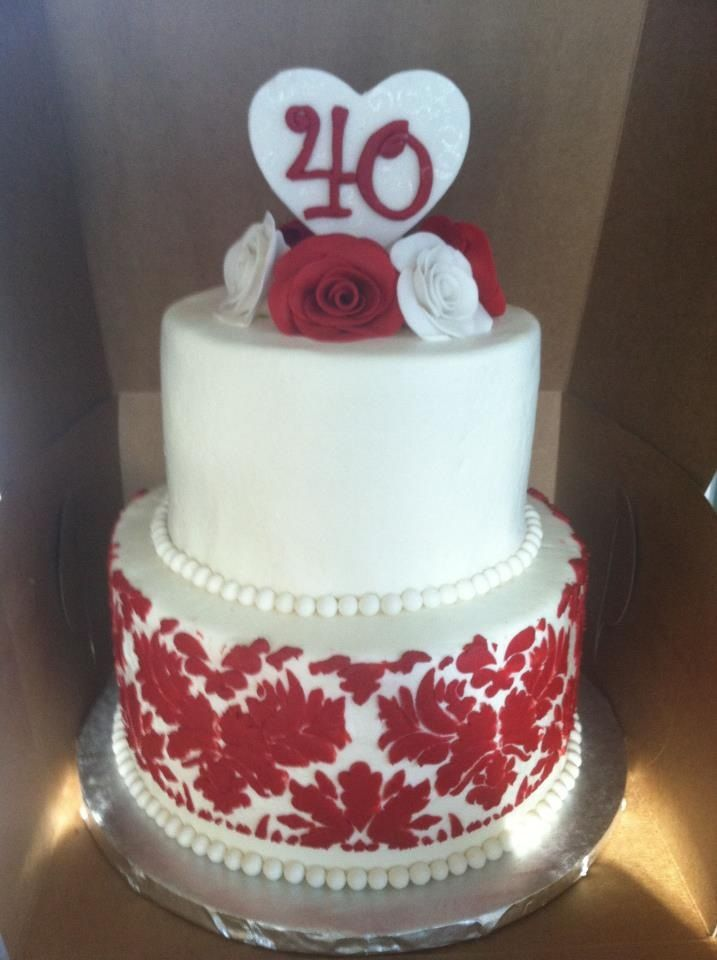 40th anniversary cake Sweet Cakes by Toni Pinterest ...