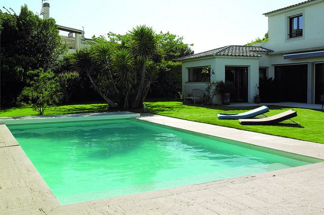piscine rectangulaire liner sable piscines pinterest