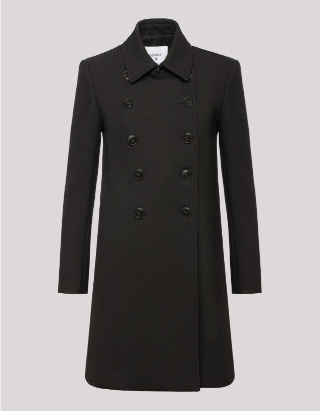 Wool blend double-breasted coat - Women Fall Winter 17