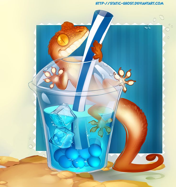 Blue Lagoon bubble tea by Static-ghost.deviantart.com on @deviantART