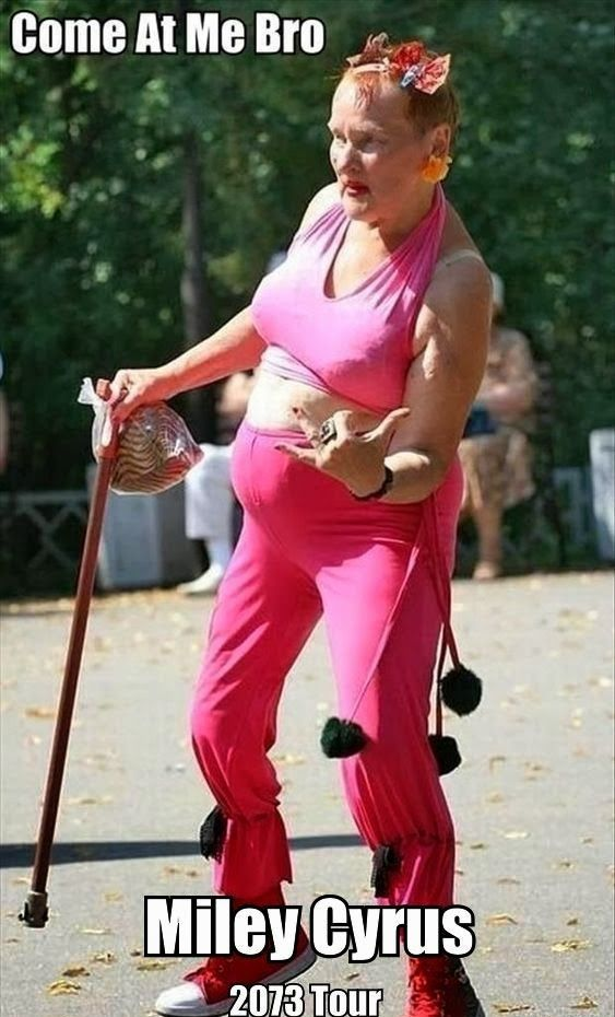 Funny Pictures of the week, 55 images. Miley Cyrus 2073 Tour