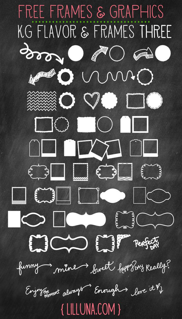 Free Frames and Graphics!! You can use them for so many things