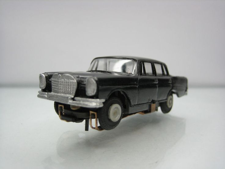 Diecast Faller Mercedes 220 Blockmotor No. 4801 Black Very Good Condition in Box