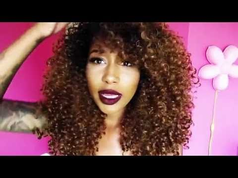 BIG CURLY HAIR| Outre Dominican Curly Wig Review - YouTube