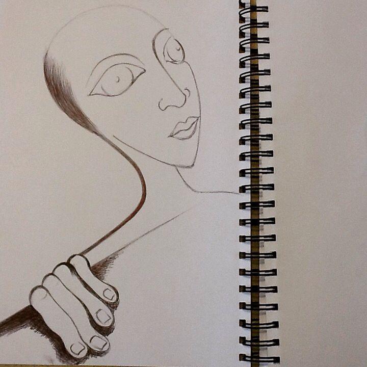 Pen on paper by Emel Jurd