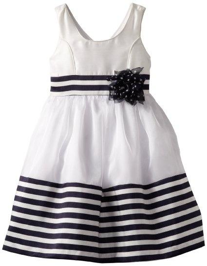 Amazon.com: Bonnie Jean Girls 2-6X Border Stripe Dress: Clothing