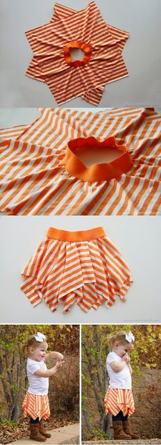 Double layer square circle skirt