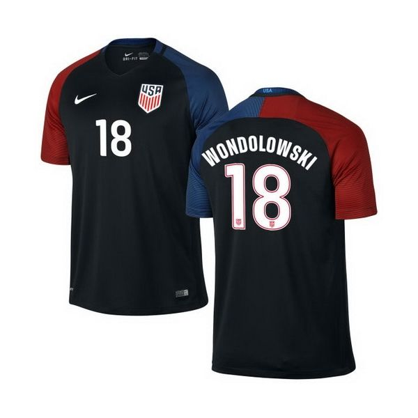 295ac69d7f0 ... Team Soccer Jerseys The United Clint Dempsey US Soccer Nike Youth Away  Replica Stadium Jersey - Black .