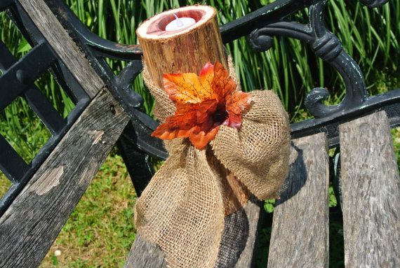 Fall Wedding Decor, Wood Vase Centerpiece, Wood Candle Holder ...