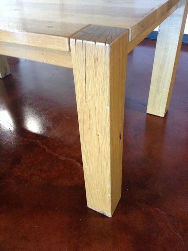 rustic kitchen dining table 6 people mountain solid european oak big sur cu0026b