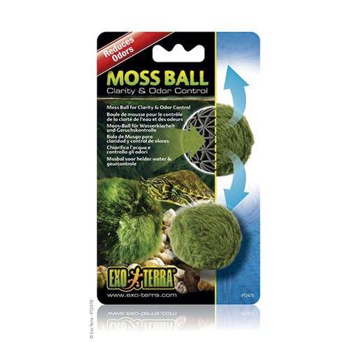 Moss Ball EXOTERRA La Bola de musgo Exo Terra ayuda a proporcionar agua cristalina y reduce los olores.