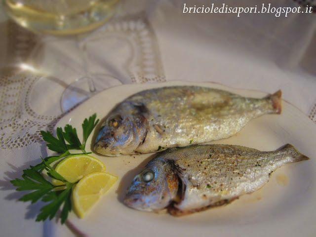 Briciole di Sapori           : Orate al cartoccio con erbe aromatiche dell'orto