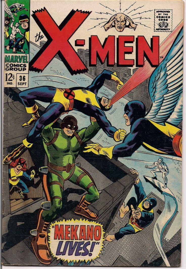MARVEL XMEN #36 Mutants Silver Age Comics Jack King Kirby & Stan Lee 1967 Roy Thomas VG++++