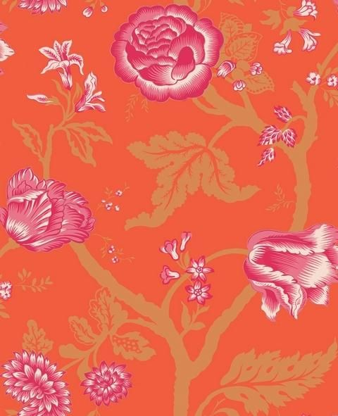 the Floral Trail Wallpaper via Total Wall Covering