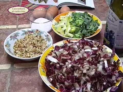 In cucina con Ester Mozzi: cannelloni al radicchio e tortino di patate - parte a - YouTube