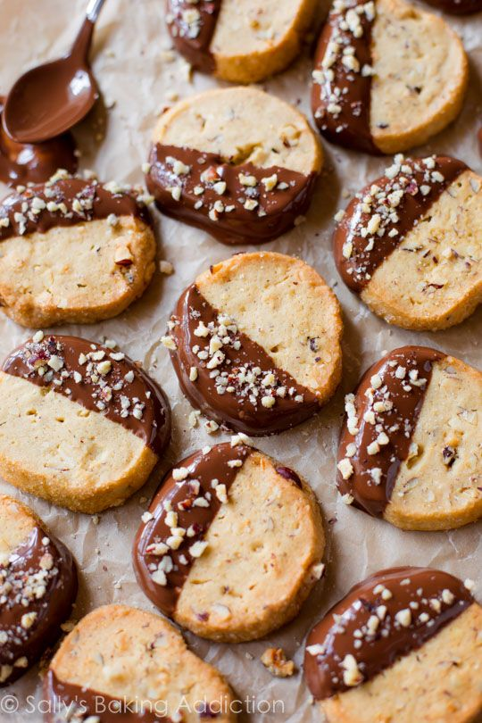 Toasted Hazelnut Cookies With Milk Chocolate