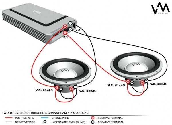 4 Ohm Dual Voice Coil Wiring Diagram Subwoofer Wiring Subwoofer Powered Subwoofer