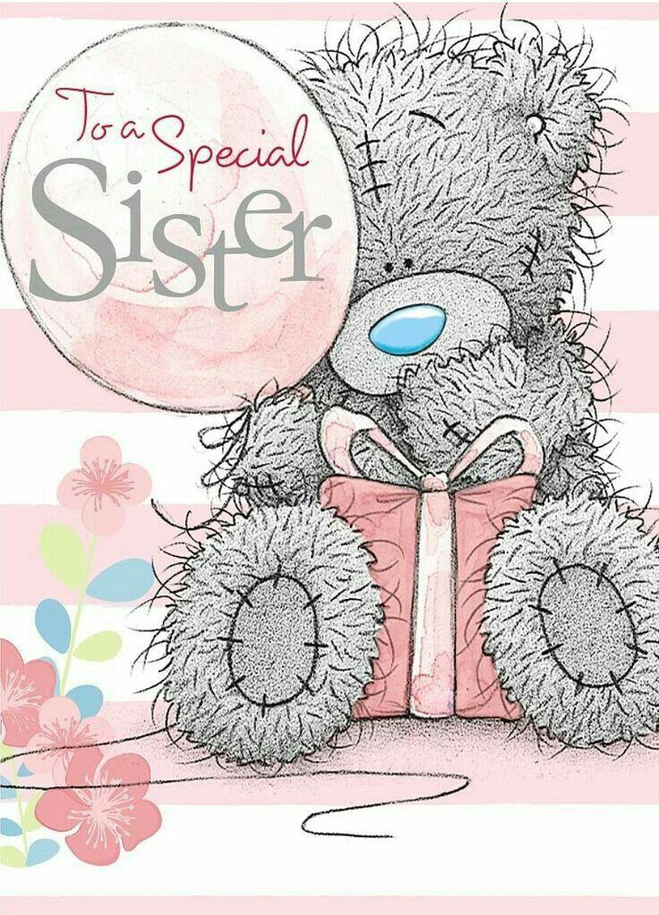 Открытка на день рождения сестре мишки, открытки производителя открытки