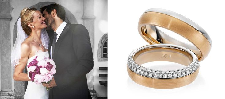 18k gold anniversary ring by Rings & Bands