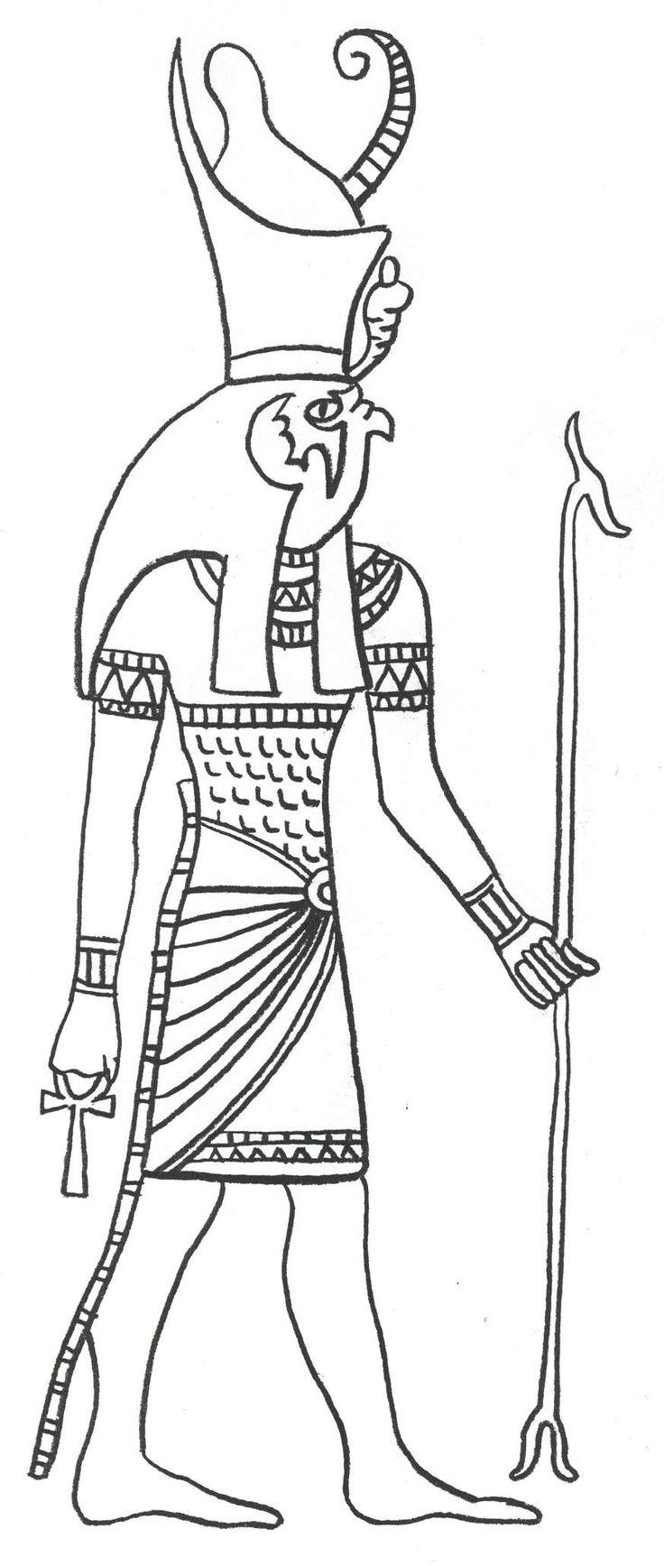 egyptian mythology coloring pages - photo#17