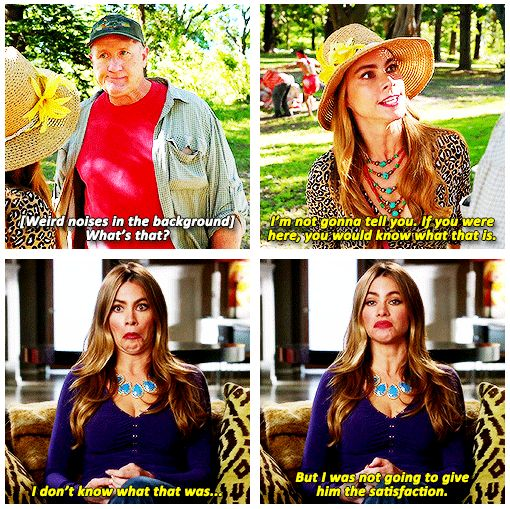 "When she was petty goals. | 23 Times Gloria From ""Modern Family"" Made Us Burst Out Laughing"