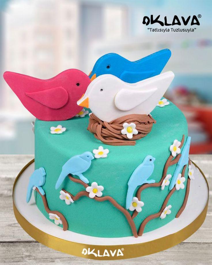Kuşlar Doğum Günü Pastası