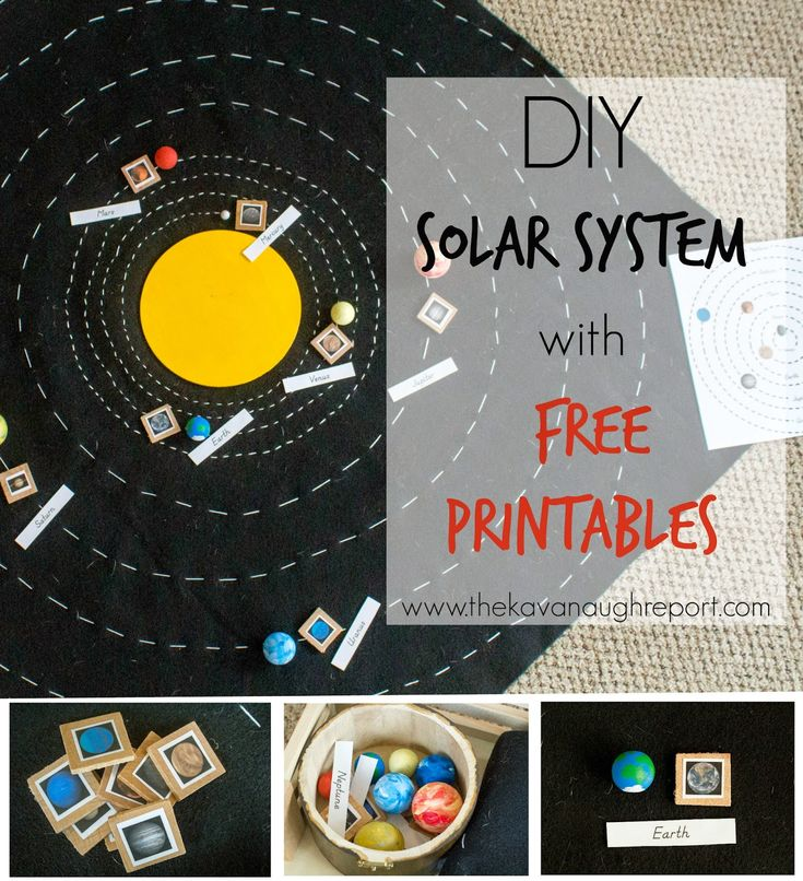 DIY Solar System Map with Free Printables - a hands on Montessori inspired way to explore then planets and space.