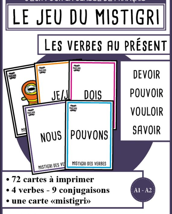 Mistigri des verbes - Devoir, pouvoir, vouloir, savoir   Mondolinguo - Français