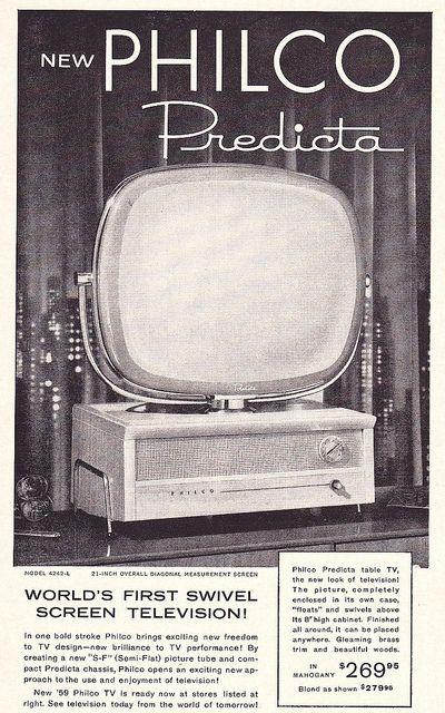 Philco Predicta Ad 1958 Science Vintage Tech Vintage