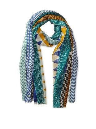 67% OFF Saachi Women's Printed Chevron Scarf, Aquamarine, One Size