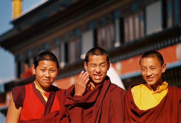 Monks at Dali Monastery, Darjeeling - Druk Thupten Sangag Choeling Monastery
