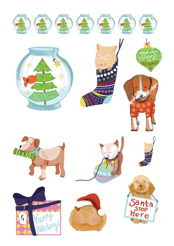 Free festive pets printables – Jolly Holly Folly and Other Christmas Frivolity