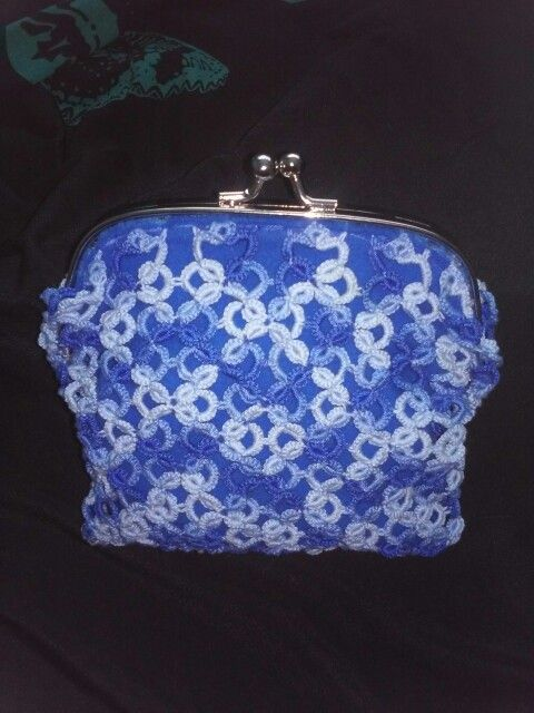 My first tatted bag