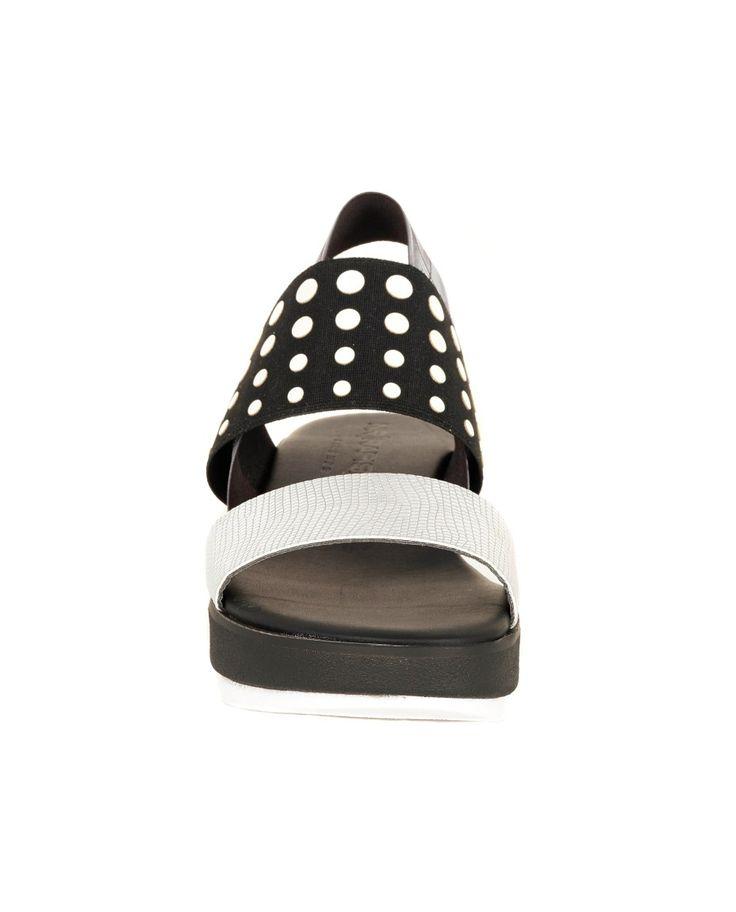 NR|RAPISARDI POLKA DOT SANDAL S/S 2016 Polka dots sandals  fancy printing fabric bands  heel 5 cm  synthetic sole