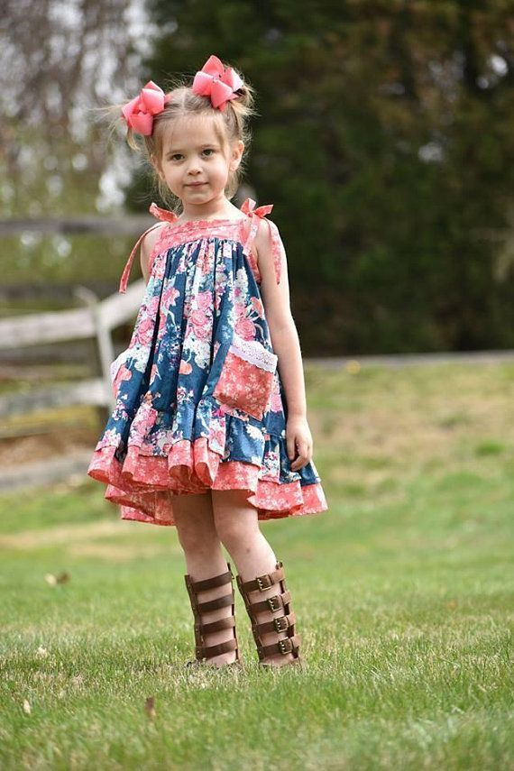 9a8927dc2 The perfect girls summer dress! All the twirl & pockets!!! . #style #kids #kids_fashion