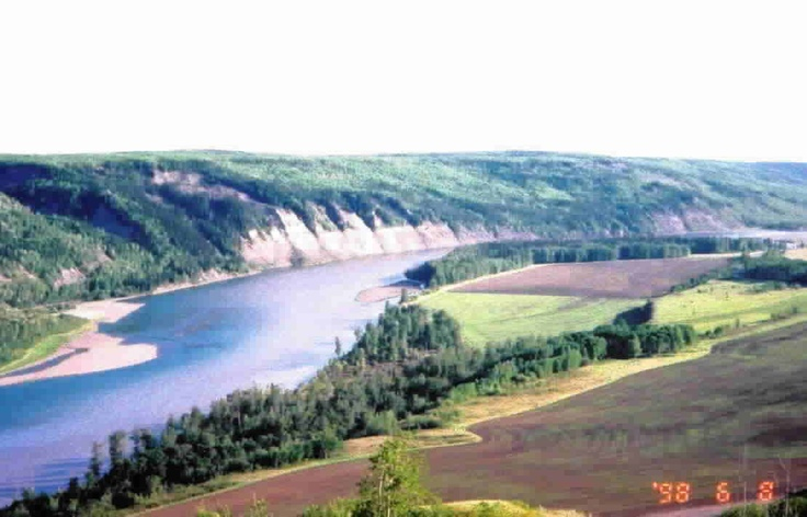The mighty Peace River, near Fort St John BC, CANADA... Soon to be lost. A new water dam is being put in that will flood these plains. An attack on biodiversity and the livelihood of the north, all to supply the States with electricity. Canoe this river once, love it forever.