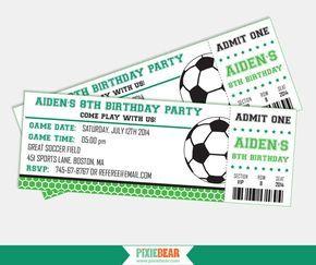 Fútbol Fiesta invitación - fútbol invitación - invitación de futbol - futbol boleto invitación del cumpleaños - para imprimir (descarga inmediata) de PixieBearParty en Etsy https://www.etsy.com/es/listing/194913669/futbol-fiesta-invitacion-futbol