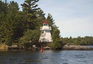 Gravenhurst Narrows (Lighthouse Island) Lighthouse, Ontario Canada at Lighthousefriends.com