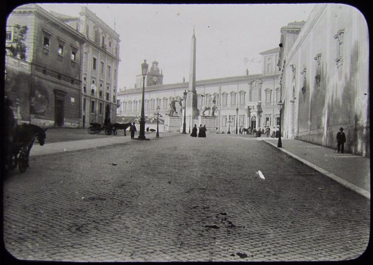 RARE EARLY Glass Magic Lantern Slide STREET SCENE ROME C1880 PHOTO ROMA ITALY | eBay