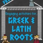 3 FREE fun and engaging vocabulary activities that can be used with all levels and any words.  *A Greek and Latin Root graphic organizer *Vocabulary Cinquain Poem template and frames *Frayer Model graphic organizer