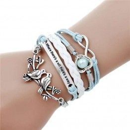 Multi-layer Charm Leather Bracelets