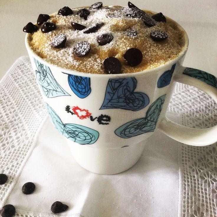 MugCake de Galleta Cookie (en taza) con harina de arroz y maizena